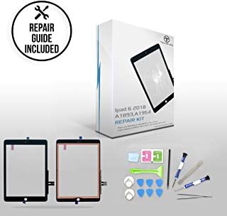 """TechOrbits IPAD 6th Generation 2018 (A1893, A1954) Touch Screen Replacement Glass Digitizer 9.7"""" with Repair Guide & Tool Kit (Black)"""