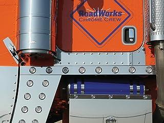 RoadWorks Stainless Steel Under Door Panels for Peterbilt 379, 388, & 389