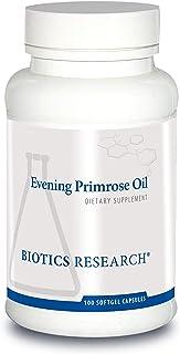 Biotics Research Evening Primrose Oil Potent Gamma Linolenic Acid GLA Source, Linoleic Acid, Healthy Inflammatory Response, Cardiovascular, Neurological, Skin, Women's Health. 100 Softgel Capsules