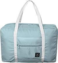 Foldable Duffel Bag for Women and Men-Blue, Heylian Lightweight Waterproof Luggage Travel Bag