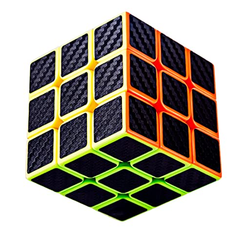 TaoLeLe Speed Cube 3x3x3 Carbon Fiber Sticker Smooth 3D Magic Cube Upgraded Version