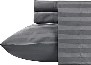 ARlinen Duvet Cover Super King, Dark Grey Comforter Cover Bedding 3 Pieces Duvet Set (1 Duvet Cover + 2 Pillow Covers) 400 Thread Count Cotton Duvet Cover Set (Super King Size, Dark Grey)