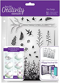 docrafts DCE907114 Creativity Essentials A5 Clear Stamp Set (20 Pack), Forest