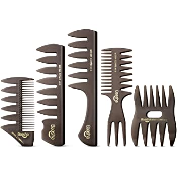 Baasha Quiff Styling Comb, Professional Hair Comb Set for Men, Styling Comb for Men, Pick Combs Set, Barber Combs, Combs Set for Men, Anti-Static Shaping & Wet Pick Combs for Men Boys