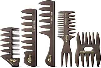 Baasha Quiff Styling Comb, Professional Hair Comb Styling Set For Men, Styling Comb for Men, Pick Combs Set, Barber Combs, Combs Set For Men, Anti-Static Shaping & Wet Pick Combs for Men Boys