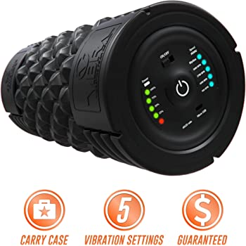 Epitomie Fitness VIBRA Vibrating Foam Roller - Next Generation Electric Foam Roller with 5 Speeds Settings   Includes Carry Case & Vibration Foam Rolling Training