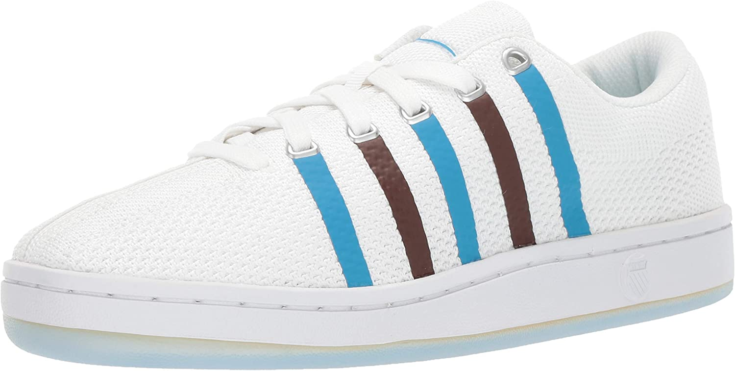 K-Swiss Womens Classic 88 Knit Clouds and Dirt Sneaker