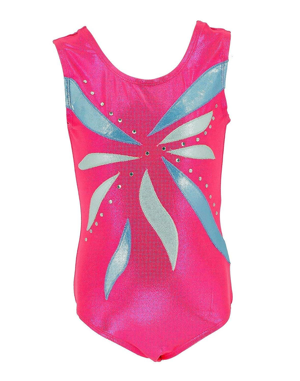 Happy Cherry Girls Dance Leotard Gymnastics Bodysuit Sleeveless Dancing Clothes