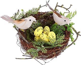 POPETPOP Nido de Pájaro Artificial Simulación Espuma Pájaros Nido Huevos Decoración Pluma Pájaros Artesanía DIY para Adornos para El Hogar Decoración de La Boda Accesorios para Fiestas