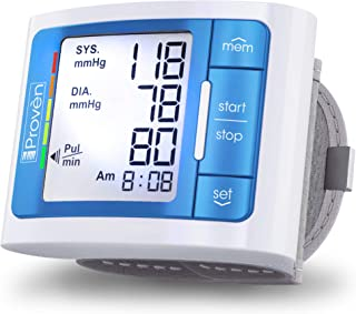 [2020 Model with Backlight] iProven Blood Pressure Cuff Wrist – BP Monitor with..