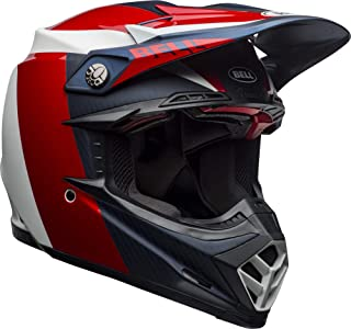 Bell Moto-9 Flex Off-Road Motorcycle Helmet (Division Matte/Gloss White/Blue/Red, Large)