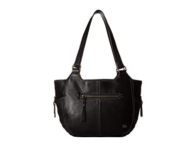 The Sak Kendra Satchel (Black) Shoulder Handbags