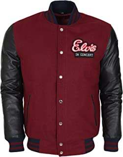 Elvis In Concert Style Leather Sleveed Jacket In Maroon Top Quality For Men