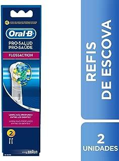 Oral B Floss Action Repuesto para Cepillo de Dientes Eléctrico, Empaque de 2 Unidades