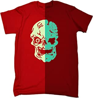 123t Glow in The Dark Men's Skull Loose FIT T-Shirt Funny Novelty