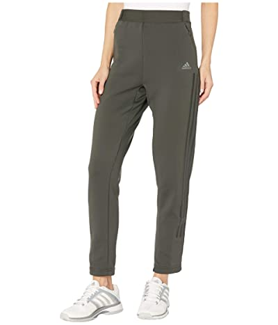 adidas CLIMAWARM(r) Slim Fit 3-Stripes Pants (Legend Earth) Women
