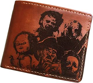 Horror characters movie Halloween killer leather mens wallet bifold