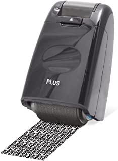PLUS Japan, Guard-Your-ID Camouflage Roller Stamp in Black,