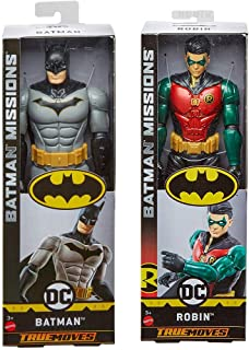 Batman Missions Serious Superhero Bundle: Big Figure Pack 2-Pack Batman & Robin Movie True Moves Series DC Comics 12