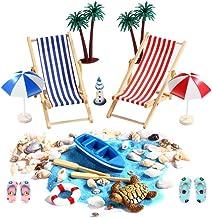 Mini Chaise Longue Plage Party Jaune 5/cm Figurine D/éco vacances vacances