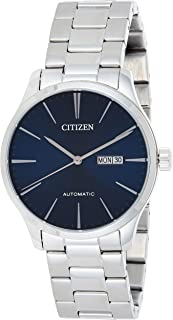 CITIZEN Mens Mechanical Watch, Analog Display and Stainless Steel Strap - NH8350-83L