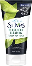 St. Ives Blackhead Clearing Face Scrub Clears Blackheads & Unclogs Pores Green Tea & Bamboo With Oil-Free Salicylic Acid Acne Medication, Made with 100% Natural Exfoliants 6 oz