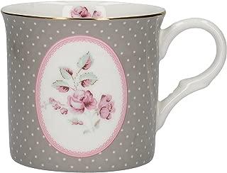 "Katie Alice ""ditsy Floral"" Fine Bone China Oval Grey Mug By Creative Tops, 230"