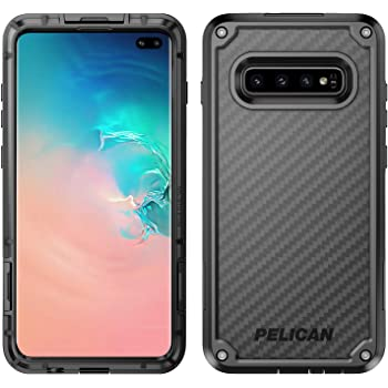 Pelican Shield Samsung Galaxy S10+ Phone Case, 5-Layer Extreme Protective Smartphone Cover, 12-Foot Drop Protection, Kickstand Belt Clip Accessory (Black)