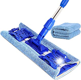 Floor Cleaning Mop Microfiber Mop Floor Cleaning System, Hardwood Floor Mop with 1 Washable Pads Perfect Cleaner, Spin Mop...