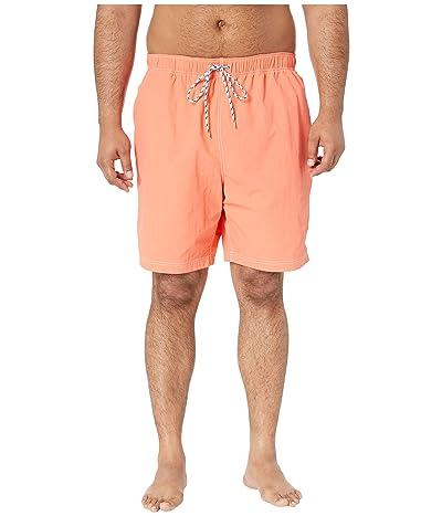 Nautica Big & Tall Big Tall Solid Swim Shorts (Living Coral) Men