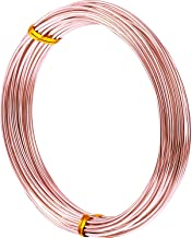 32.8 Feet Aluminum Wire, Bendable Metal Craft Wire for Making Dolls Skeleton DIY Crafts (Copper, 1.5 mm Thickness)