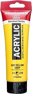 Royal Talens Amsterdam Standard Series Acrylic Color, 120ml Tube, AZO Yellow Deep (17092702)