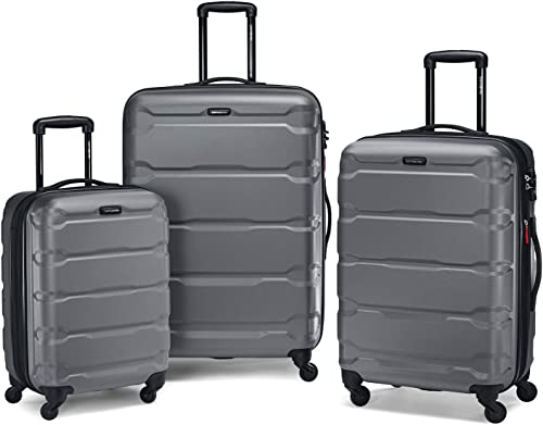 "Samsonite Omni 3 Piece Hardside Luggage Nested Spinner Set (20""/24""/28"") Charcoal"