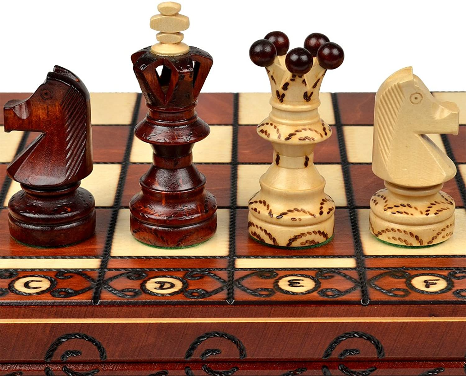 Ambassador European International Chess Set - 21.7 by Sunrise Handicrafts