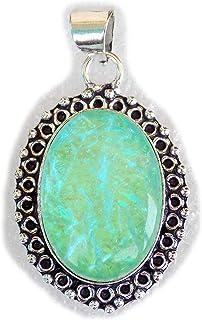 Dichloric Glass Pendant, Silver Plated Brass Pendant, Handmade Pendant, Gift Jewelry, Women Jewellry, Fashion Jewellry, BR...