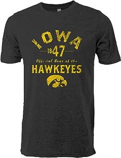 NCAA Iowa Hawkeyes Adult Men Tri Blend Short Sleeve Tee Vintage L