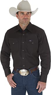 Wrangler Men's Western Work Shirt Firm Finish