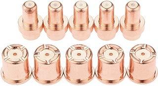 Mtsooning 10pcs 1521 1304 Plasma Torch Nozzles Electrodes for Cebora CP-50 CB50 PR0116 PD0088