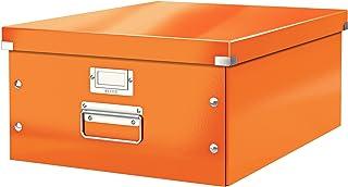 Leitz Wow Click & Store 60450044 Grande Boîte de Rangement A3 Orange