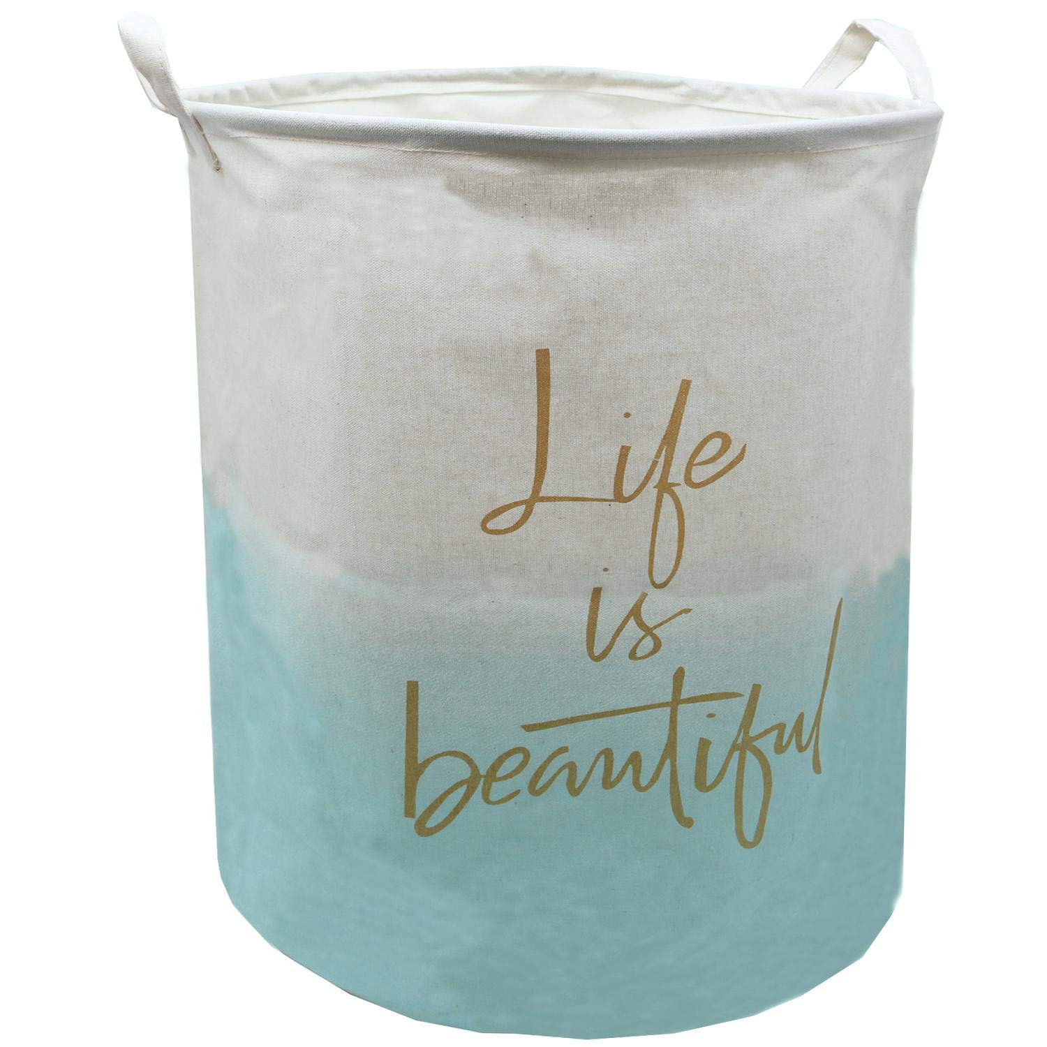 Large All items Limited price sale in the store Canvas Laundry Hamper Collapsible 19.7x15.7 Storage Inch