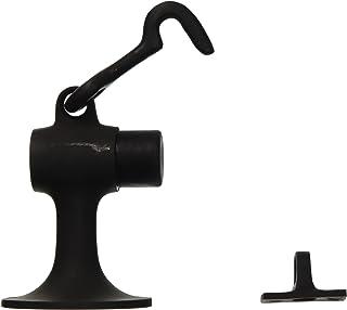 "Ives FS446 3 3/4"" Height Cast Brass Floor Door Stop with Manual Hold-Open Hook, Oil Rubbed Bronze"