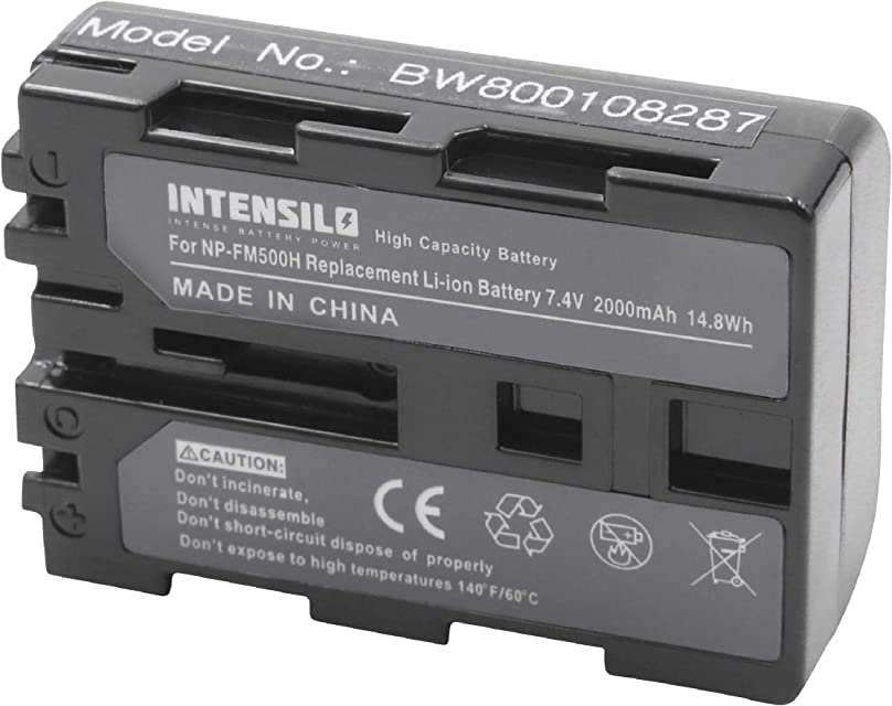 INTENSILO Li-Ion batería 1900mAh (7.2V) para cámara de Video Sony Alpha DSLR-A200 DSLR-A200K DSLR-A200H DSLR-A200W por NP-FM500H.