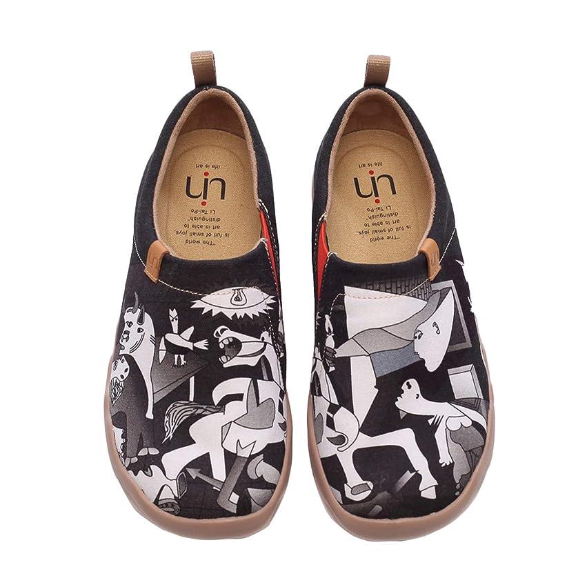広告メルボルン要塞[UIN] 女性靴 キャンバス スリップ スリッポン 通勤用 スニーカー ウォーキング シューズ 旅行 靴 運動 シューズ レディース シューズ