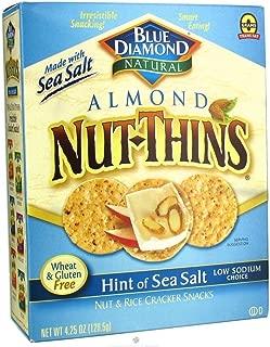 Blue Diamond Almond Nut-Thins Hint of Sea Salt Nut & Rice Cracker Snacks 4.25oz(Pack of 3)