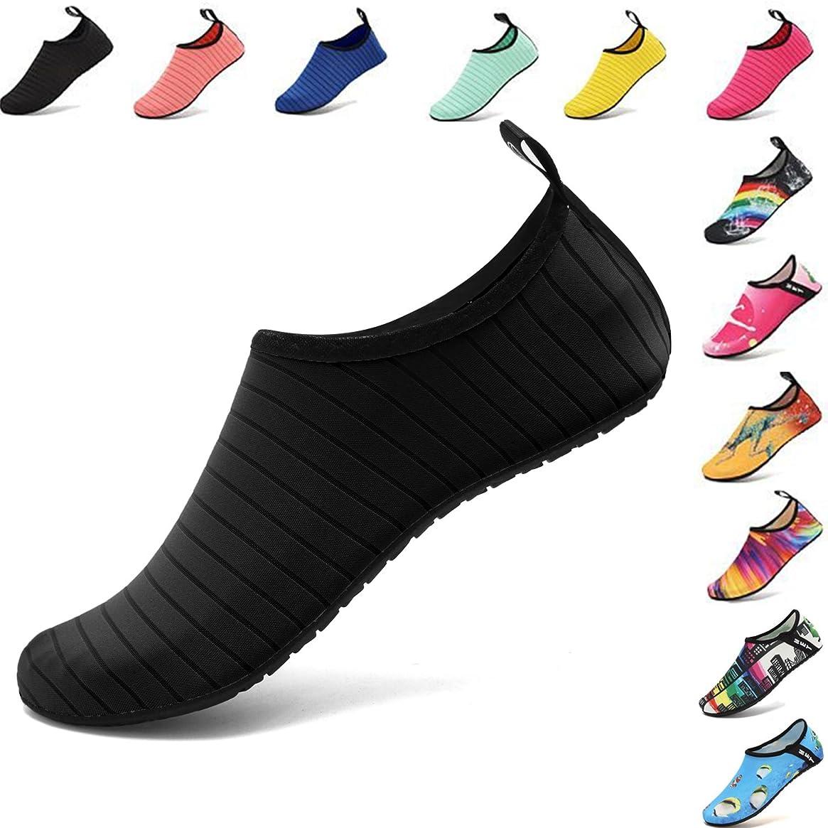 VIFUUR Water Sports Shoes Barefoot Quick-Dry Aqua Yoga Socks Slip-on for Men Women Kids mkxdubplmm55928