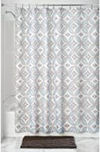 InterDesign Vintage Tile Fabric Shower Curtain, Polyester Shower Screen with Vintage-Look Tiled Pattern Design 183 cm X 18...