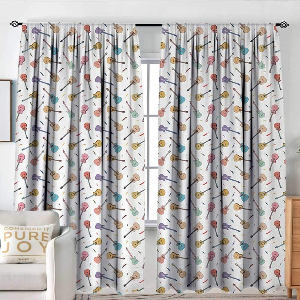 Blackout Curtains Guitar Rhythm and Factory outlet Ranking TOP11 Melody Colorful Pattern with