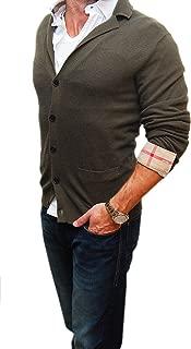 Polo Black Label Mens Green Cardigan Sweater Cashmere Silk