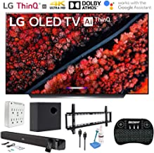 "$2496 » LG OLED65C9PUA 65"" C9 4K HDR Smart OLED TV w/AI ThinQ (2019) w/Soundbar Bundle Includes Deco Gear 60W Soundbar with Subwoofer, 37-70"" Low Profile Wall Mount Kit, 2.4GHz Wireless Keyboard and More"