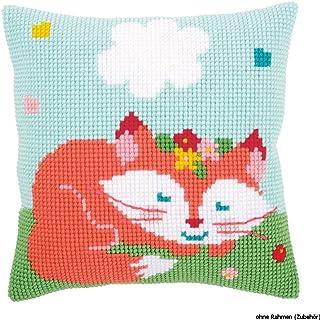 Vervaco Cross Stitch Kit: Cushion: LIEF Sleeping Fox, Other, NA, 40 x 40cm